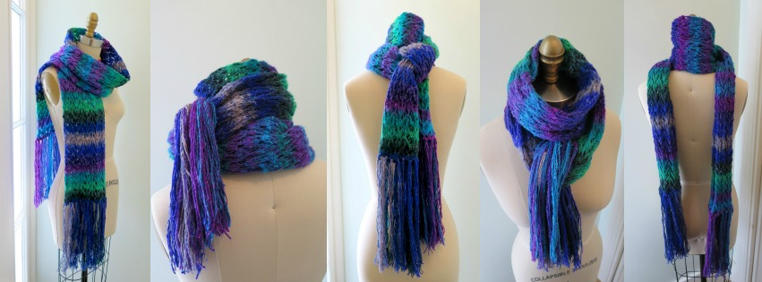 #27 fringed scarf collage